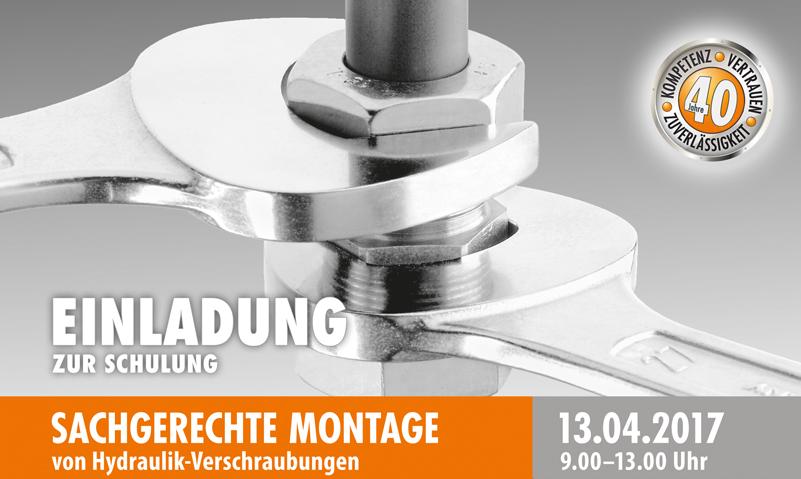 Montage Hydraulikverschraubungen am 13-04-2017